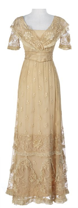 "Grace Kelly ""Princess Alexandra"" ivory period dress"