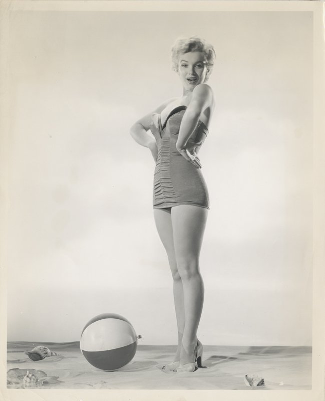 Marilyn Monroe (4) vintage swimsuit photographs by