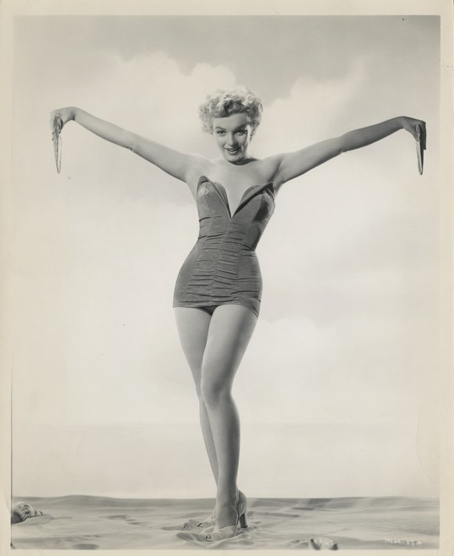 Marilyn Monroe (4) vintage swimsuit photographs by - 2