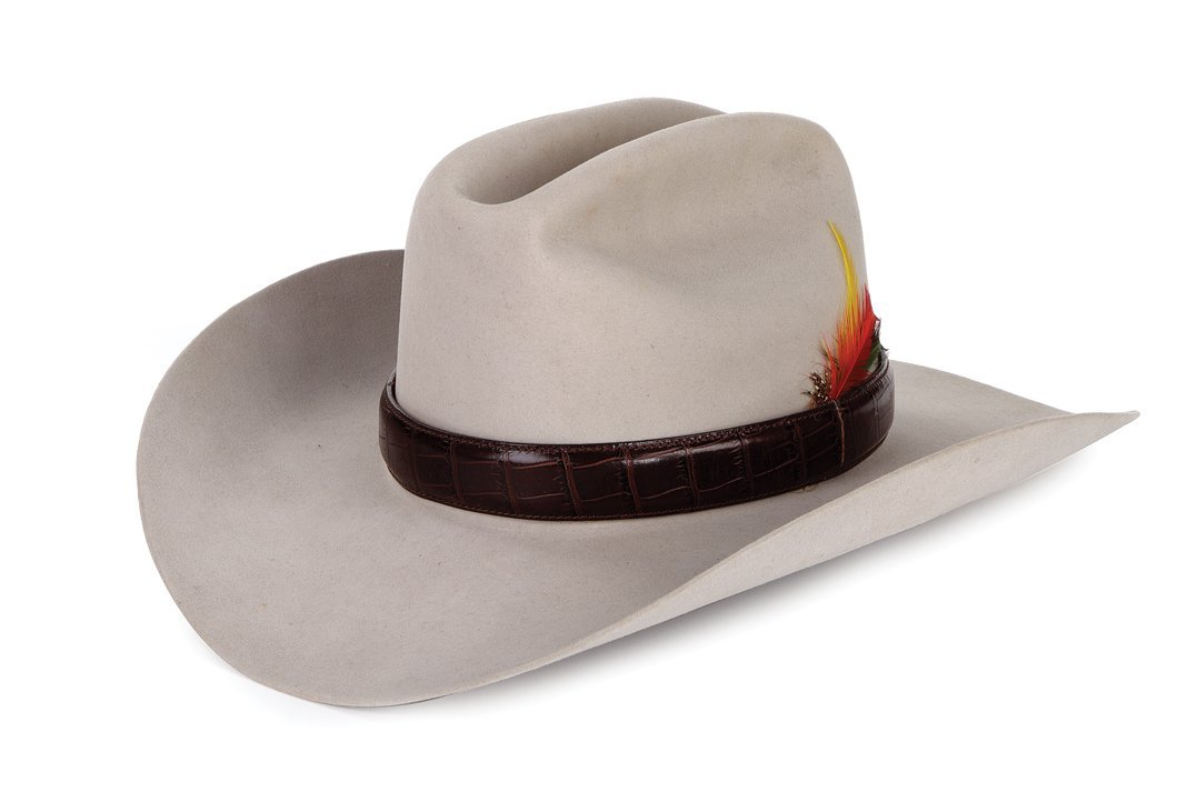 "Larry Hagman ""J. R. Ewing"" signature hat worn during"
