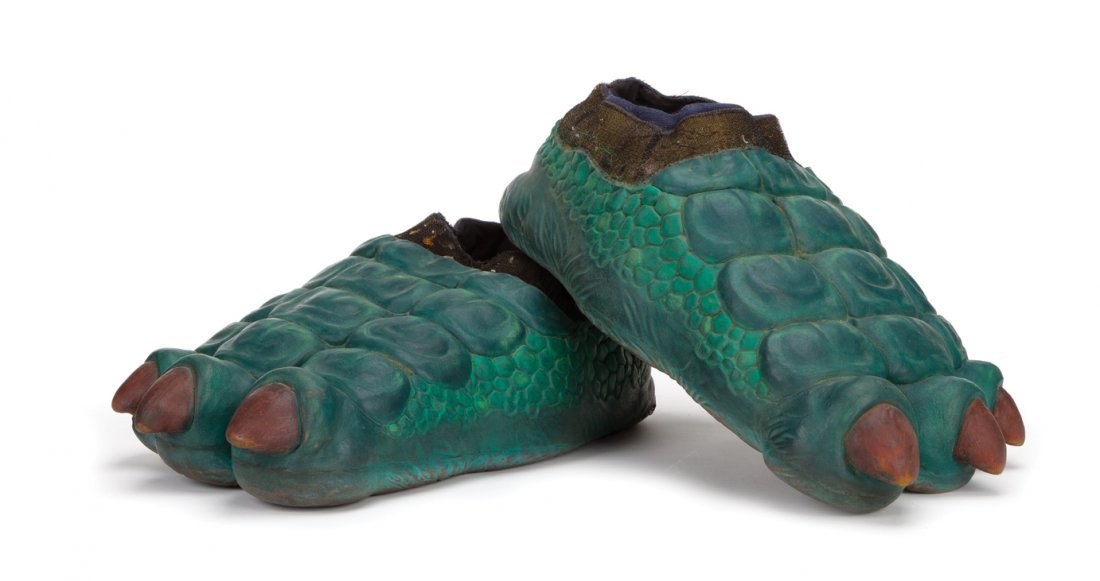 """Fran the dinosaur"" costume feet from Dinosaurs."