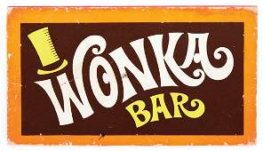 Wonka prop chocolate bar from Willy Wonka & the