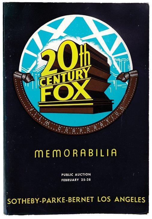 Vintage Twentieth Century Fox auction catalog.