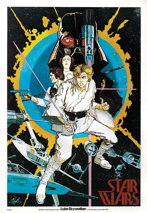 Howard Chaykin early advance Star Wars poster.