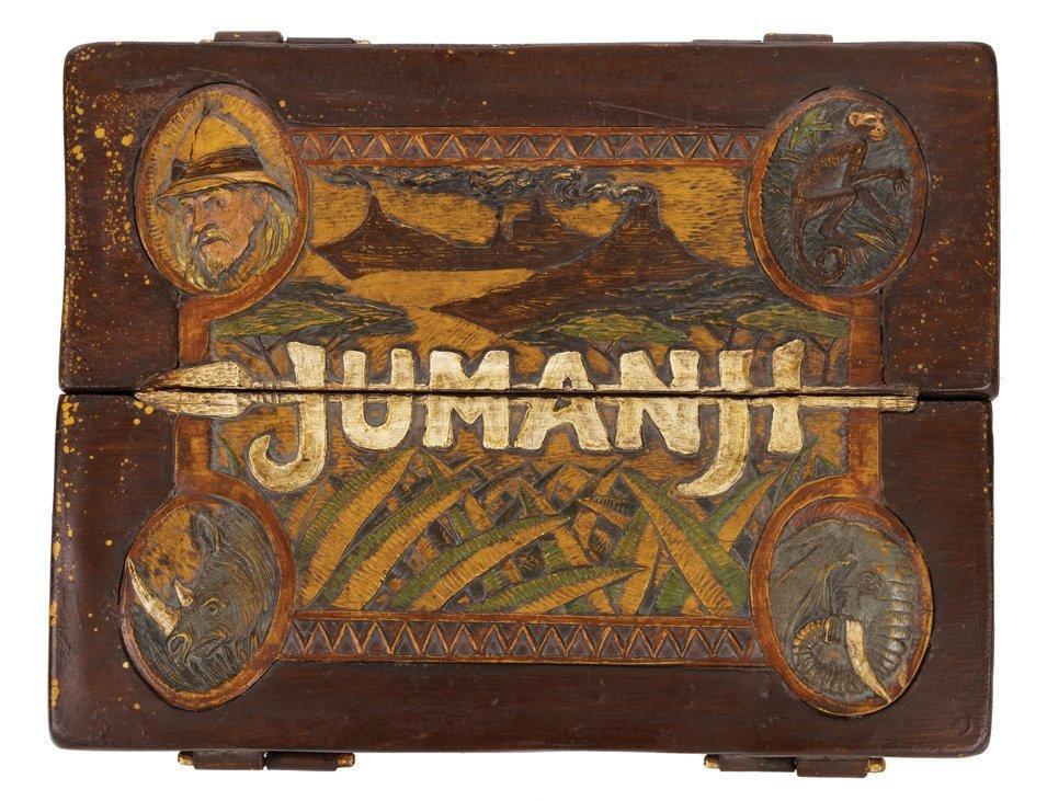 "Jumanji original screen-used ""carry board"" game with"