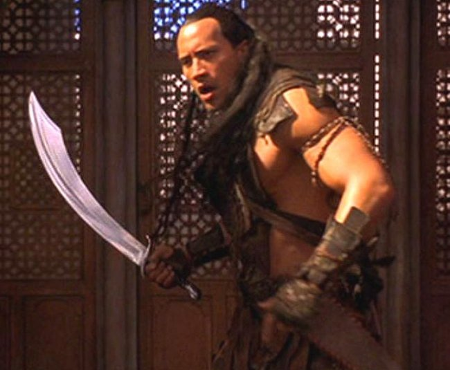 dwayne �the rock� johnson �mathayus� hero sword from lot