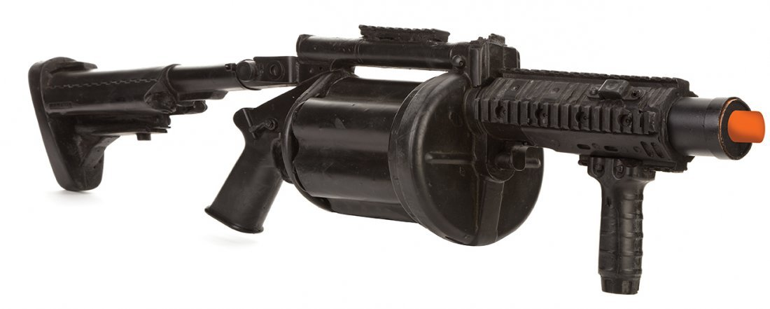 Gunner Jensen stunt Milkor M32 Multiple Grenade