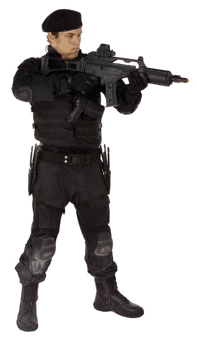 Lee Christmas elaborate tactical ensemble