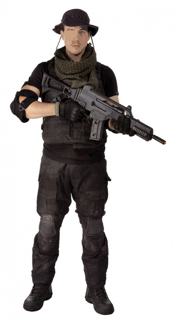 Toll Road tactical ensemble from   The Expendables 3