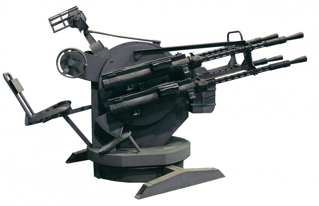 Prop anti-aircraft gun and platform from   The