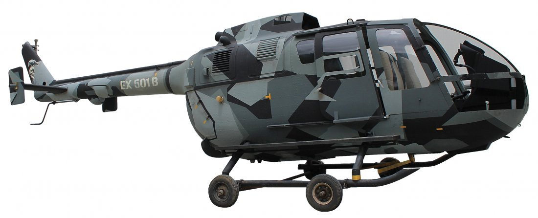 Full-scale Expendables Team process helicopter.