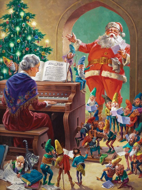 Oil painting by George Hinke for Jolly Old Santa