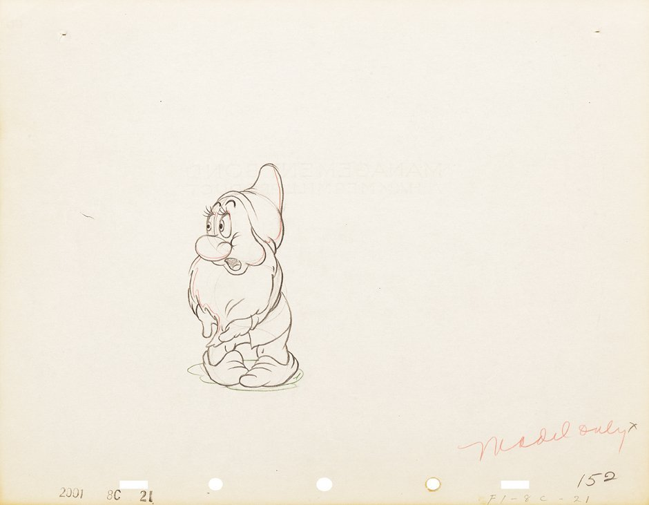 Production drawing from   Snow White and the Seven