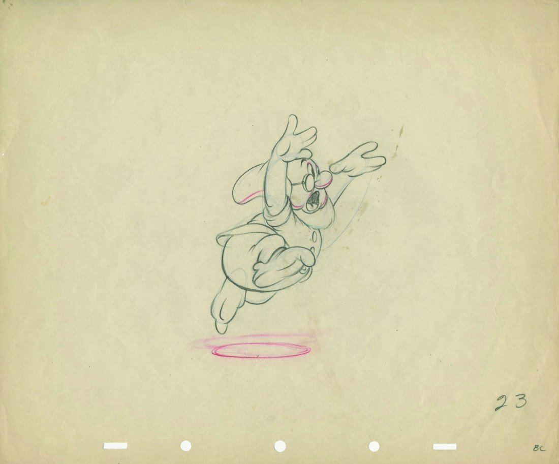 (2) production drawings from   Snow White and the