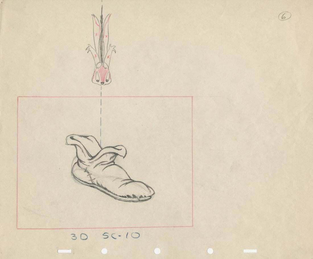 Production layout drawing from   Snow White and the
