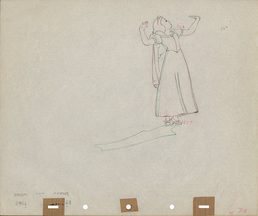 """Production drawing of """"Snow White"""" from"""