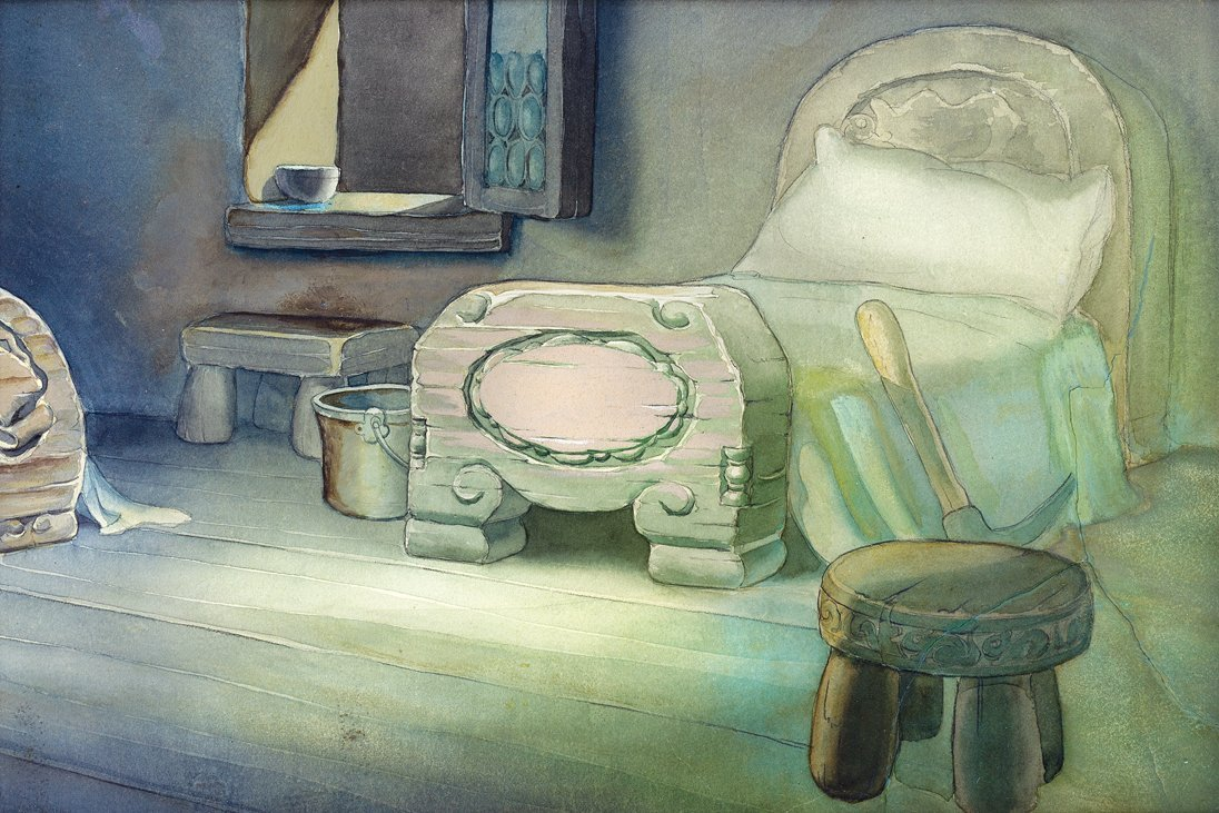 Production background from   Snow White And The Seven