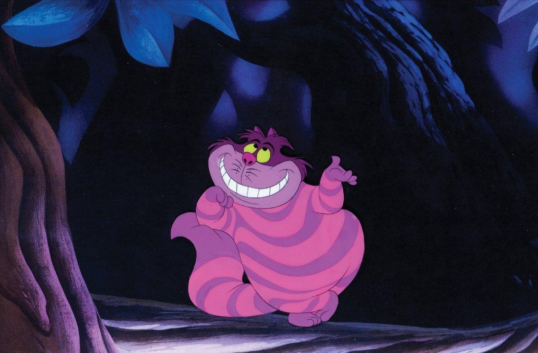 """Original production cel of """"Cheshire Cat"""""""