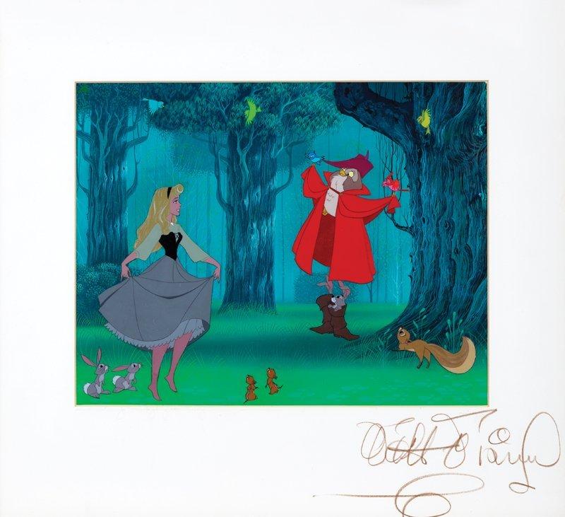 Walt Disney signed original production cels from