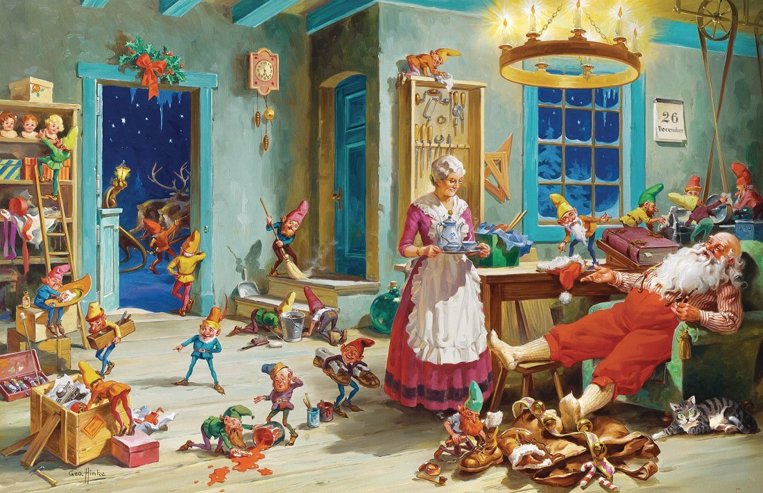 "Oil painting ""The Day After Christmas"""