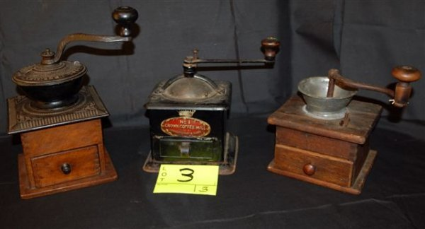 3: Coffee Grinders Includes (1) Crown Coffee Mill No1 M