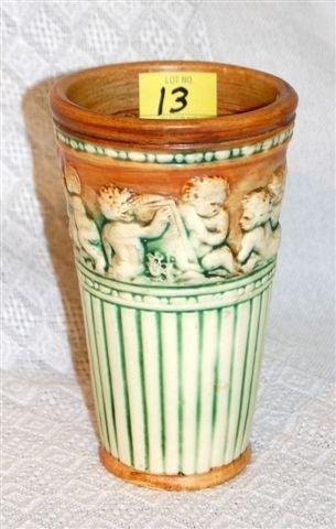 13: Cherub Vase; Unsigned Weller