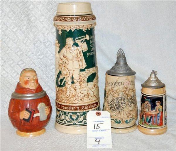 """15: Stein Collection Includes (1) 2 Liter """"""""behut Dich"""