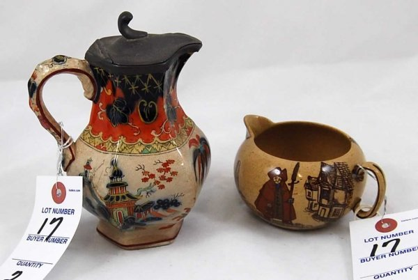 17: Gaudy Maple Syrup Pitcher; Excellent Condition. & R