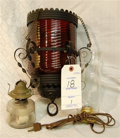 18: Hanging Lamp; Dual Fuel With oil Burner & Electric