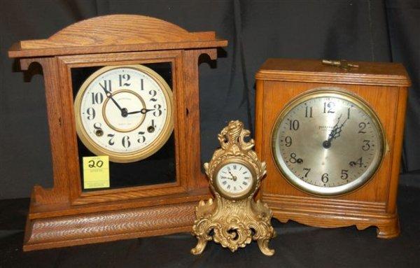 20: Clock Collection- Ingraham & Louis Pierlot