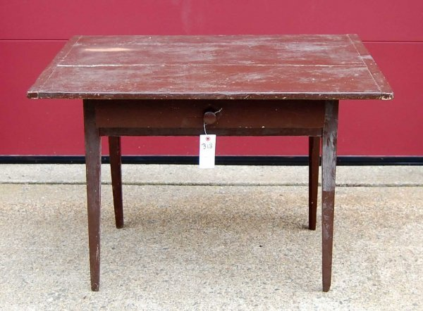 313: Possible Shaker Painted Table w/  Single Drawer;