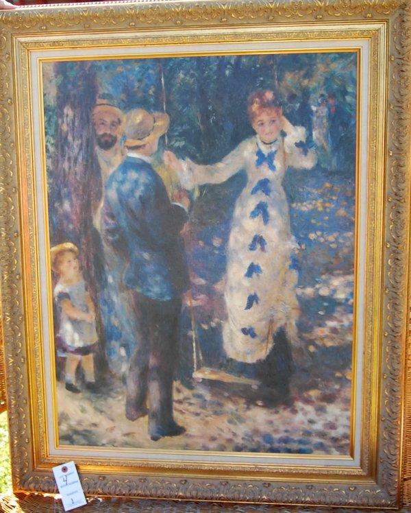 """4: Renoir print """"The Swing"""""""