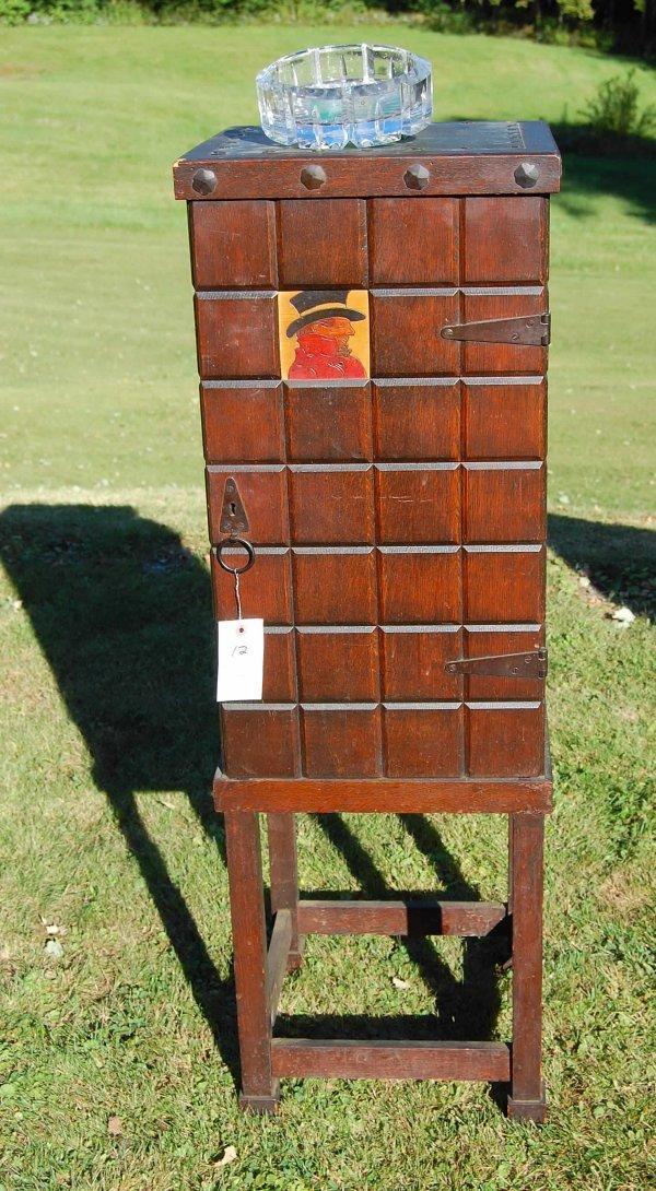12: English oak smoking stand