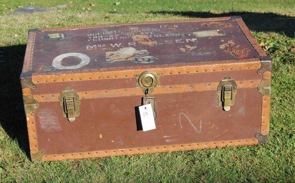 13: Vintage Canvas trunk