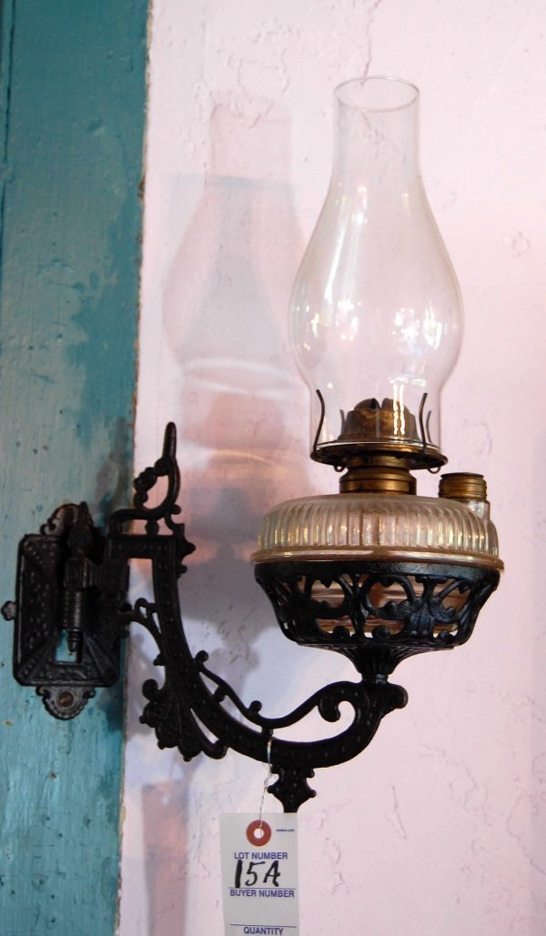15A: Vintage wall oil lamp
