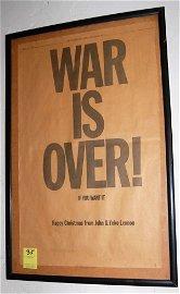 35: John Lennon-'War Is Over' 1969-NY Times Ad