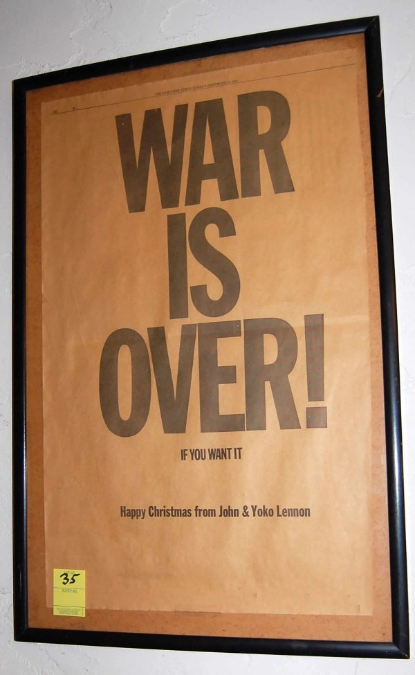 35: John Lennon-'War Is Over' 1969-NY Times Ad