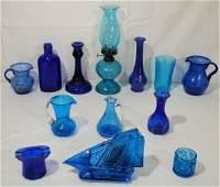 Cobalt  Blue GlassLot of 12 pieces