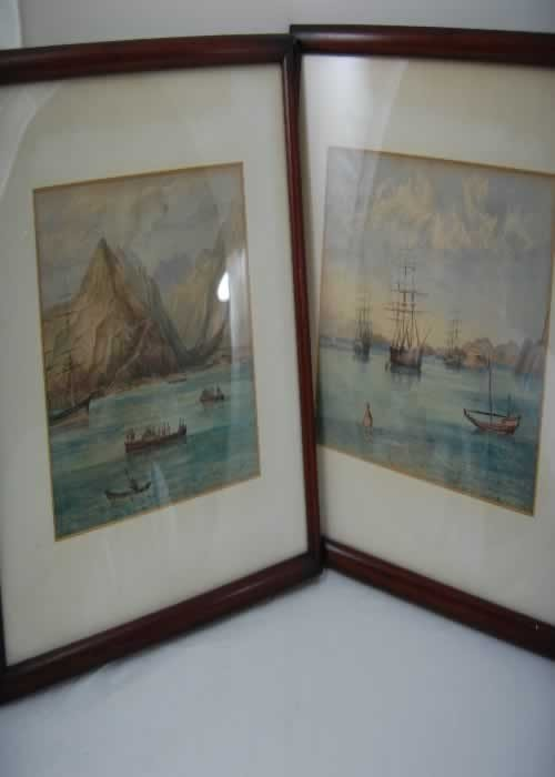 6: Pair of Watercolor Paintings - Aden