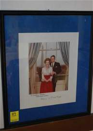 89: Autograph-President Reagan and First Lady Nancy