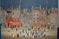 42: Michel Delacroix Lithograph-Paris street scene