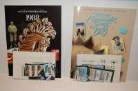 61: U-S Commemorative Stamp Sets 1988, 89, 90, 91 MINT