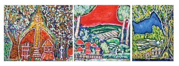 701: A set of Three Landcapes