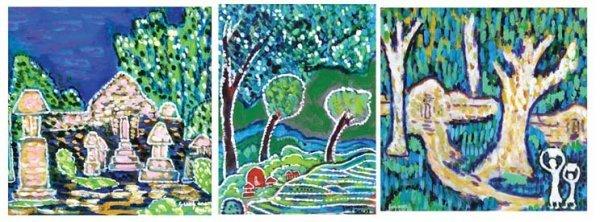 703: A set of Three Landcapes
