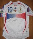 France National Jersey signed by Zinedine Zidane