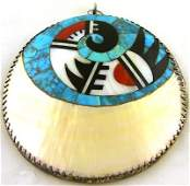 137: Early Zuni pendant by Frank Vacit