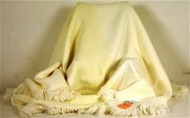 304 Genuine Hermes 100 wool fringed rug