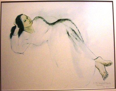 1018: R C Gorman framed signed print