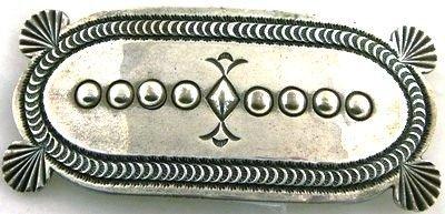 1012A: Sterling silver hair clip by H Morgan, Navajo