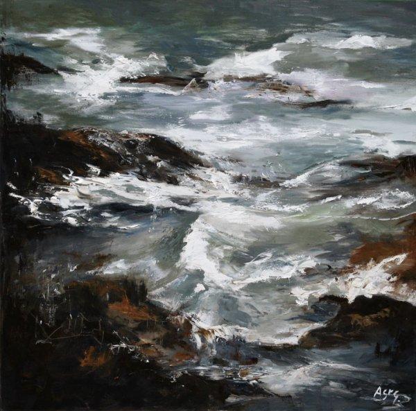 34: Anna St George Oil on Canvas 100x100cm
